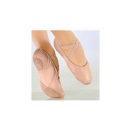 DEMI POINTES CUIR  SO DANCA COLORI SAUMON